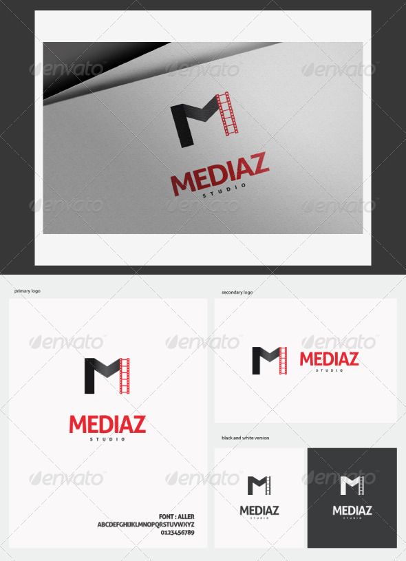Mediaz Logo - Letters Logo Templates