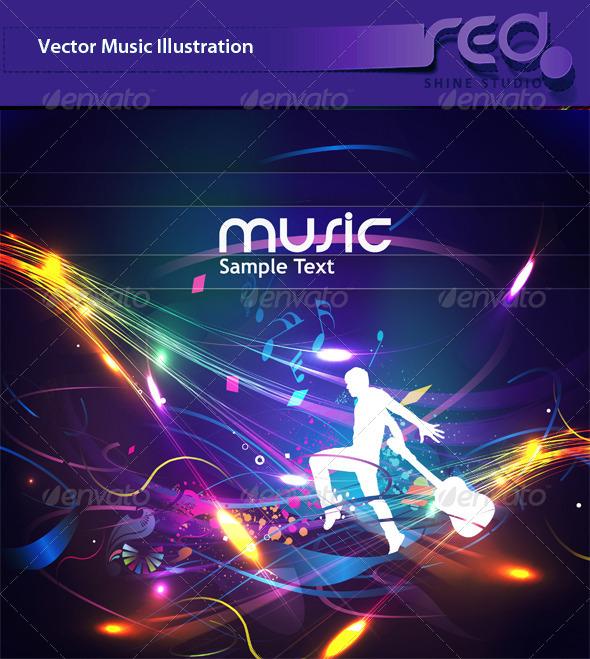 Dance Party Vector Template Design_2 - Backgrounds Decorative