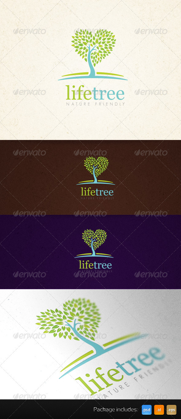 Life Tree Organic Creative Logo Template - Nature Logo Templates