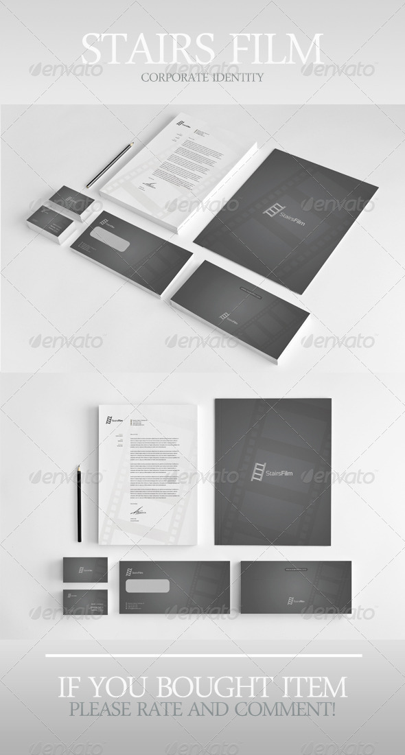 Stairs Film Corporate Identity - Stationery Print Templates