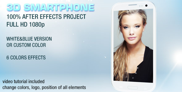 After Effects Project - VideoHive 3D SmartPhone Display 2798733