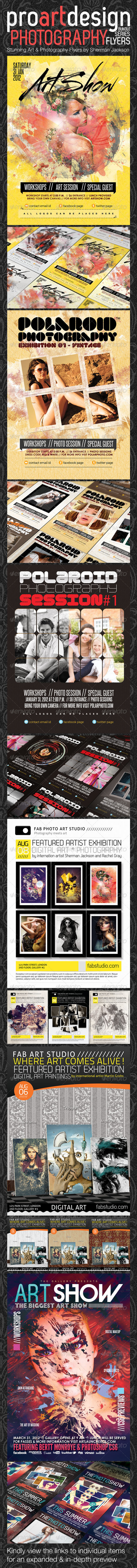 GraphicRiver ProART Photography Bundle PSD Templates 2798734