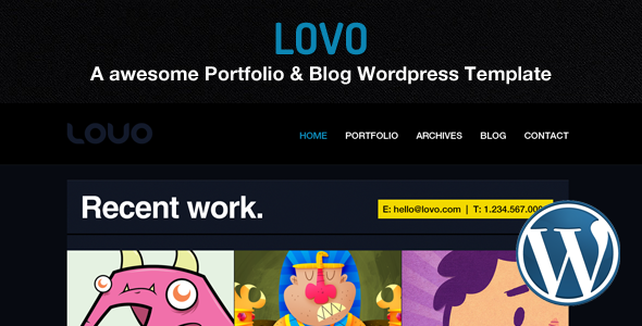 Lovo Wordpress Portfolio and Blog Theme