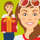 Young Woman Cartoon - GraphicRiver Item for Sale