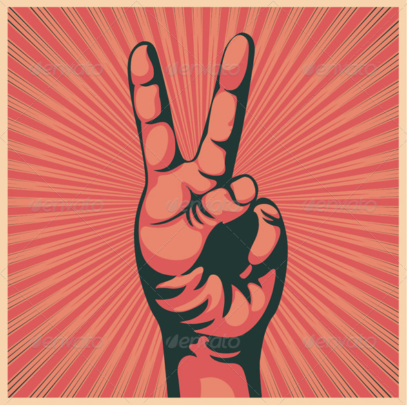 Victory sign - Conceptual Vectors
