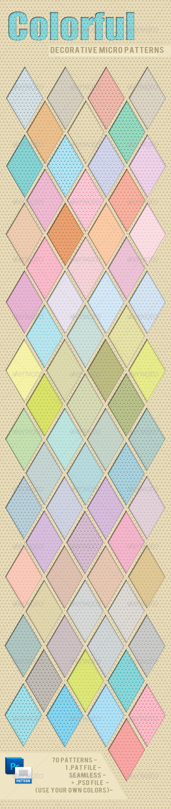 GraphicRiver 70 Colorful Decorative Micro Patterns 2791578