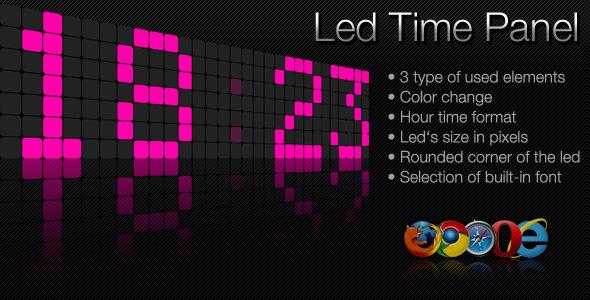 CodeCanyon Led Time Panel 2794065