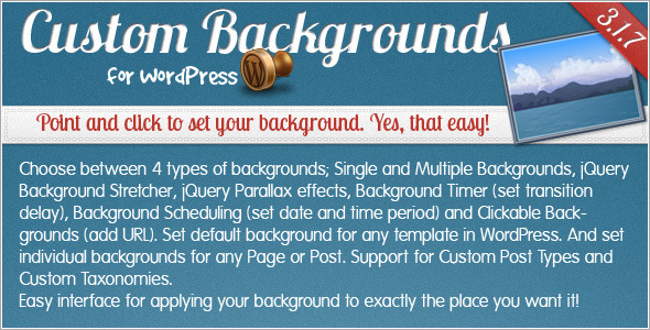 CodeCanyon Custom Backgrounds for WordPress 121983