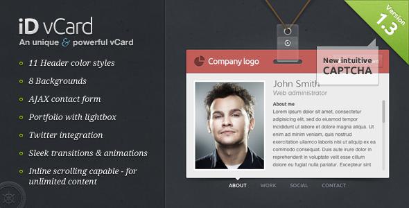 iD vCard - Unique Premium vCard Template