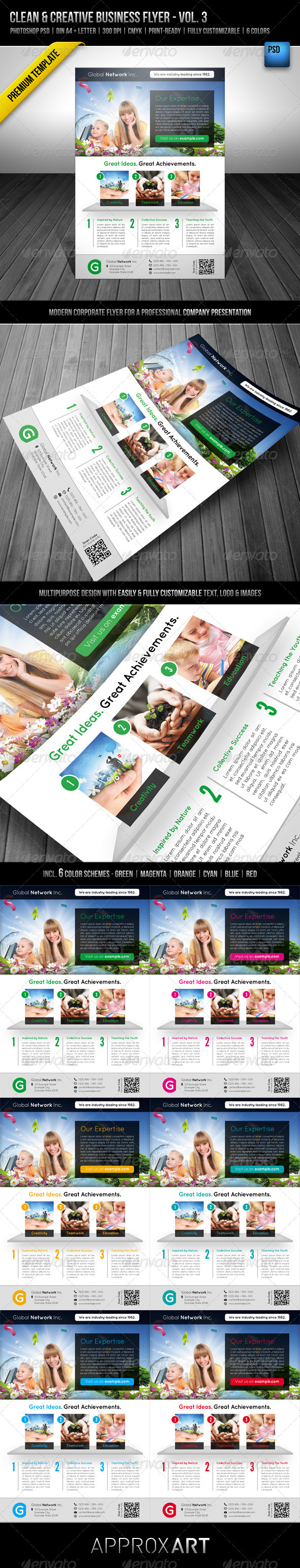 GraphicRiver Clean & Creative Business Flyer Vol 3 2800797