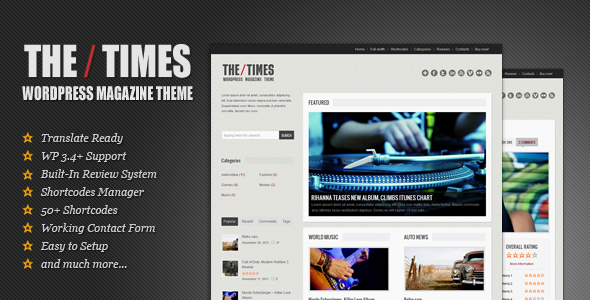 ThemeForest The Times Clean Modern and Flexible Theme 909575
