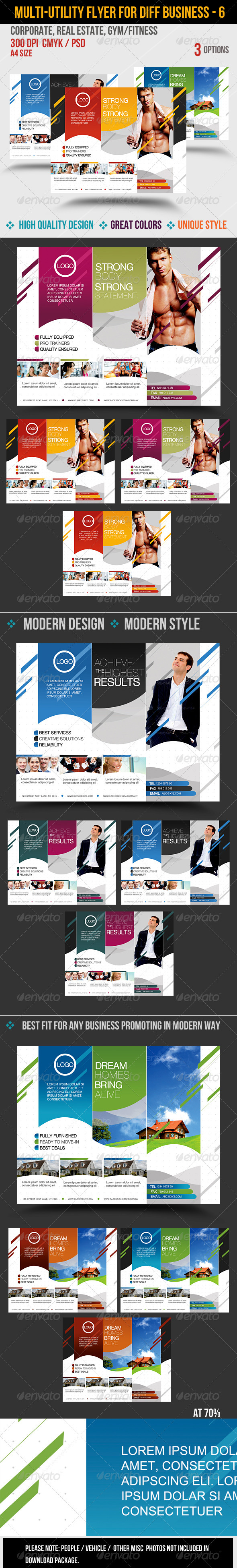 Multi-utility Flyer For Different Business - 6 - Corporate Flyers