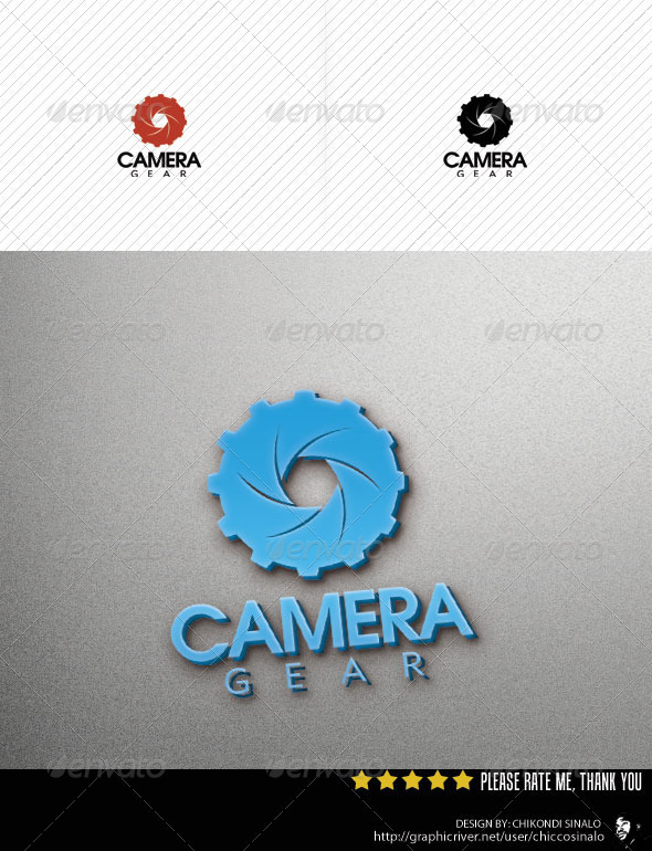 Camera Gear Logo Template - Abstract Logo Templates
