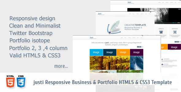 JUSTI Responsive HTML5&CSS3 Template