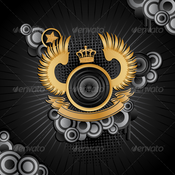 GraphicRiver Music background 100939