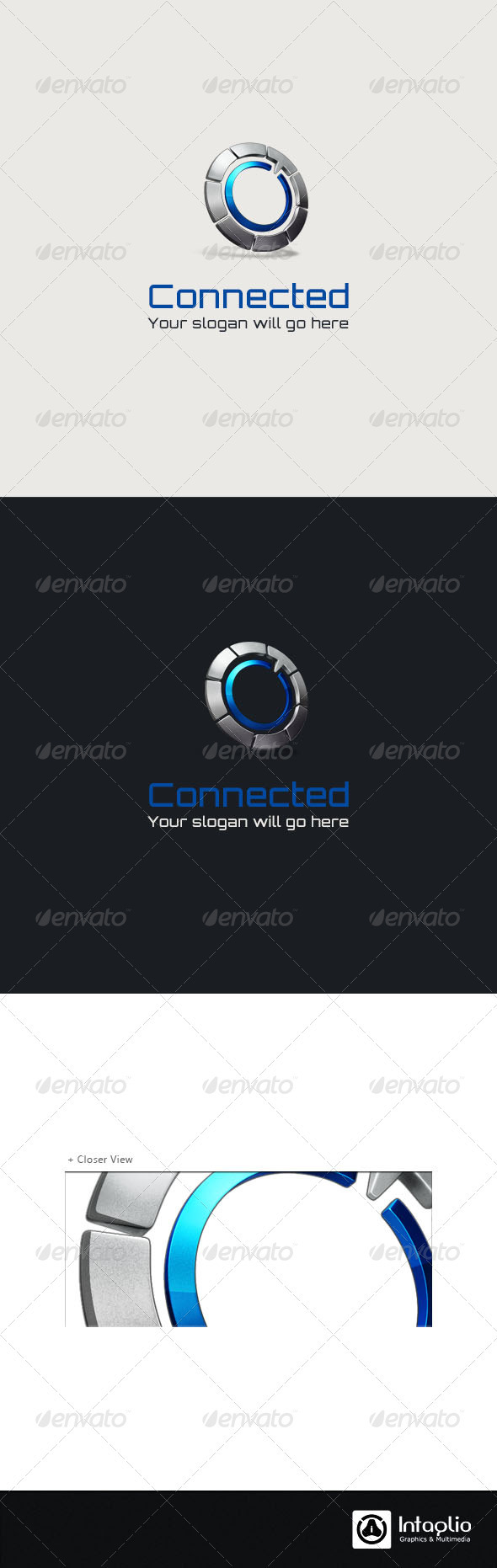 GraphicRiver 3D Abstract Logo Connected 2801998