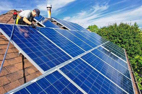 PhotoDune Solar Panel Installation 206475