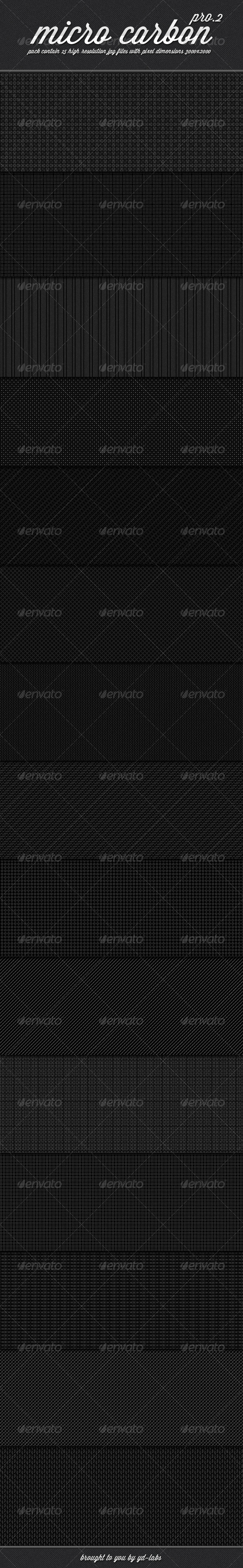Micro Carbon Patterns Pro 2 - Patterns Backgrounds