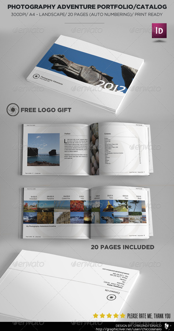 Photography Adventure Portfolio - Photo Albums Print Templates
