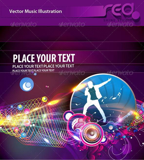 Dance Party Vector Template Design_3 - Backgrounds Decorative