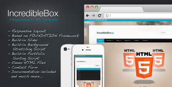 IncredibleBox - Responsive HTML Template