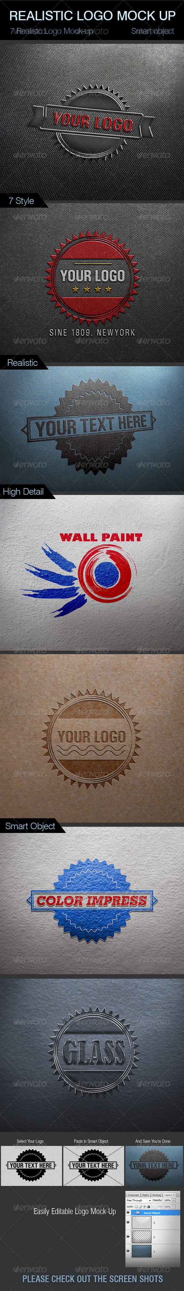 Realistic Logo Mock-Up - Logo Product Mock-Ups