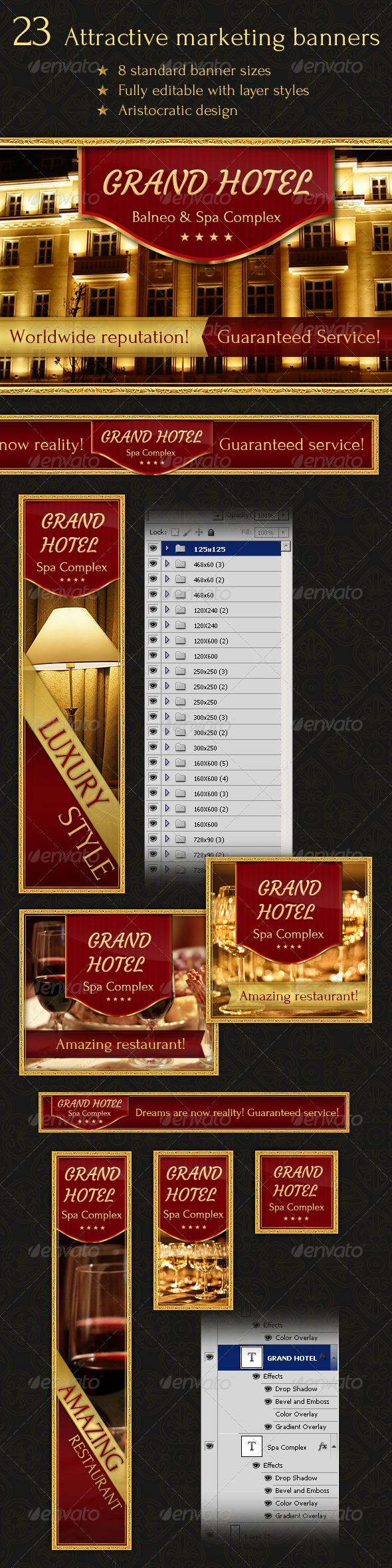 GraphicRiver 23 Aristocratic Design Banners 2793496