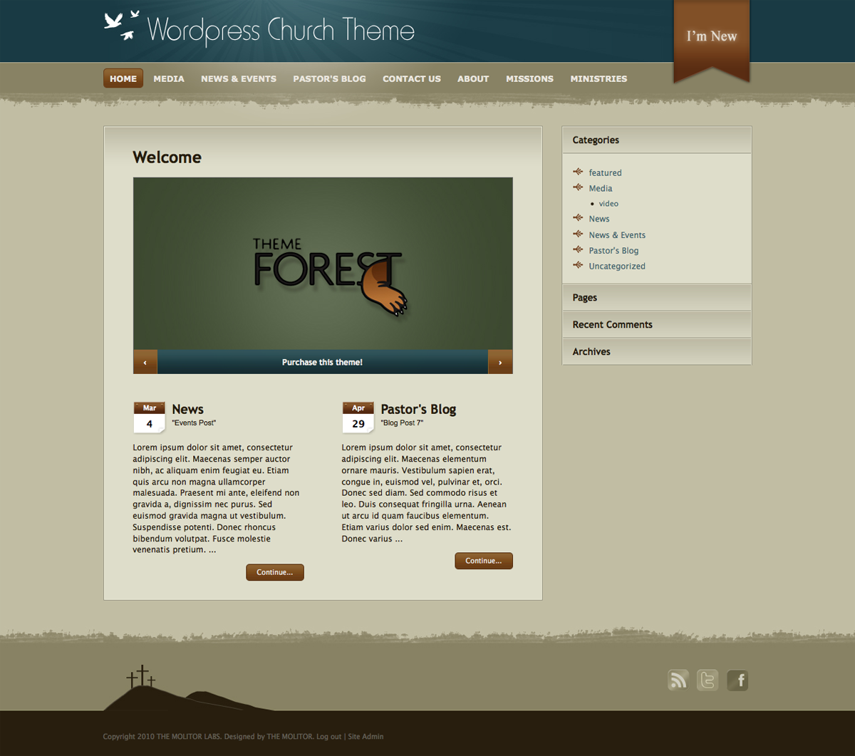Church: WordPress Theme for Online Ministry