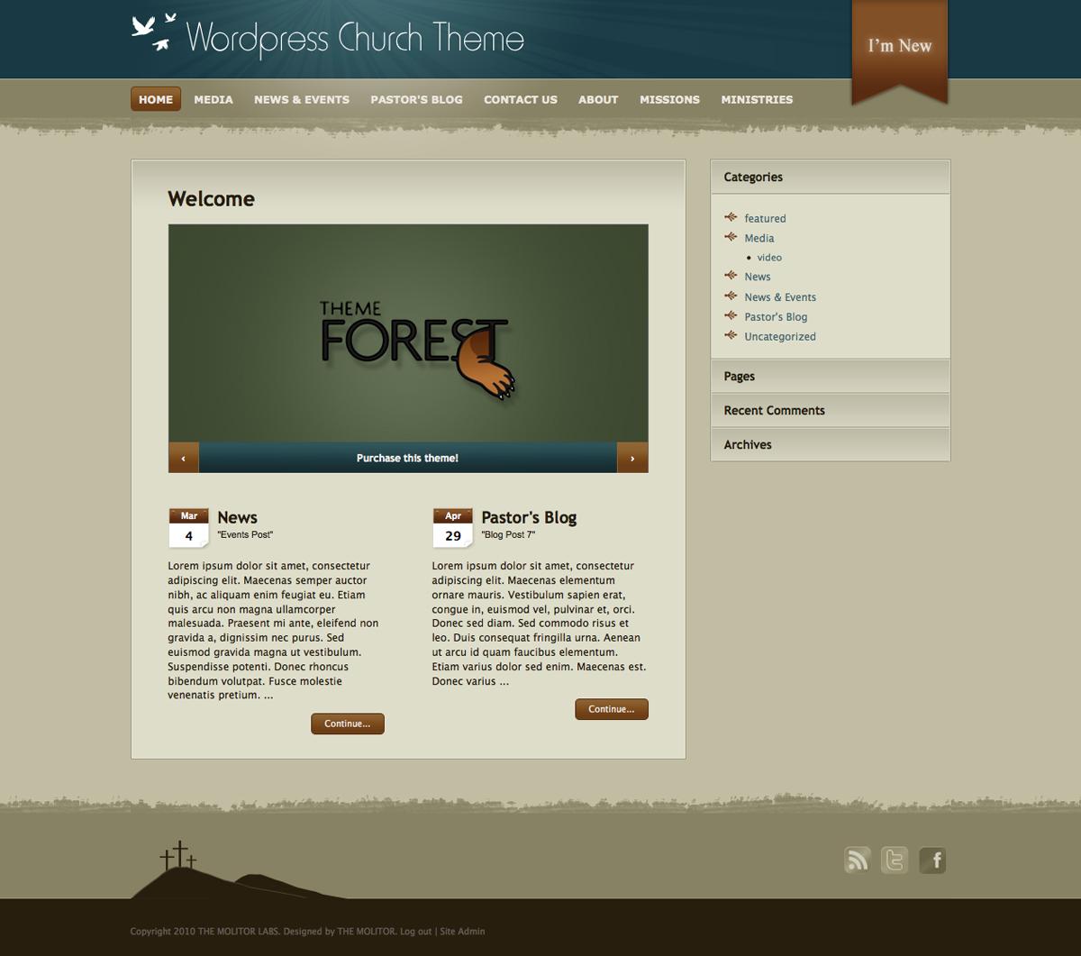 Church: WordPress Theme for Online Ministry