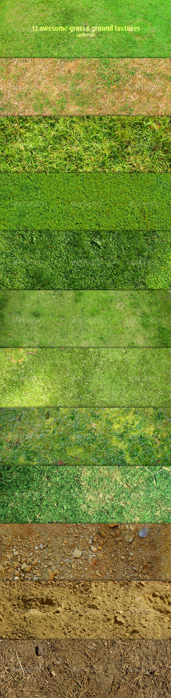 12 Awesome grass & ground textures