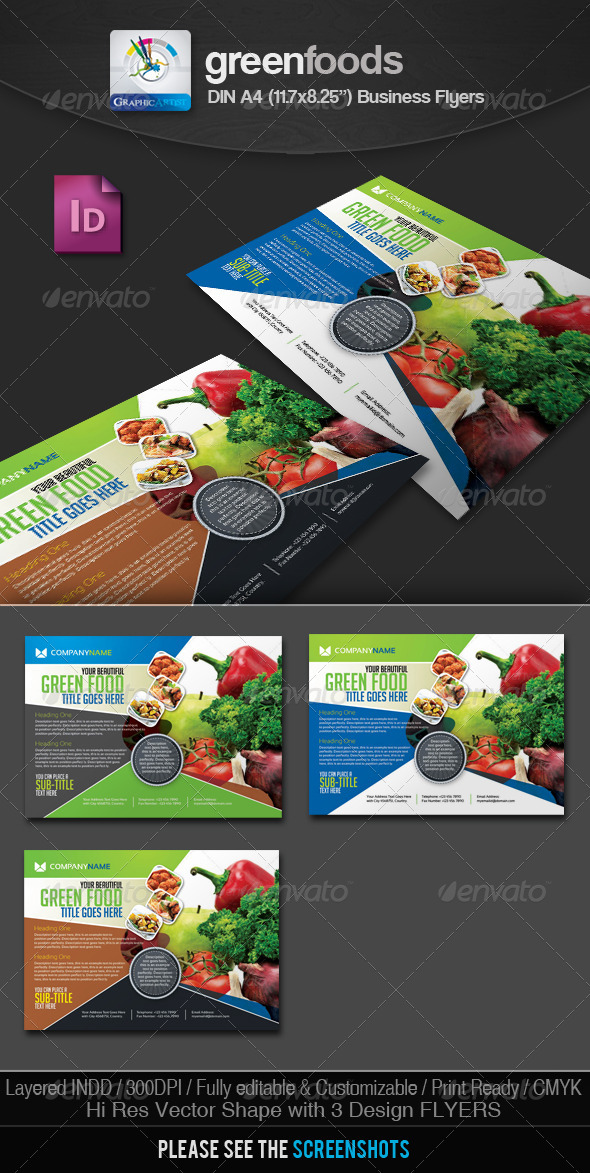 GreenFoods Restaurant Flyer/Ad - Restaurant Flyers