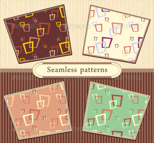Set Seamless abstract geometric patterns - Patterns Decorative