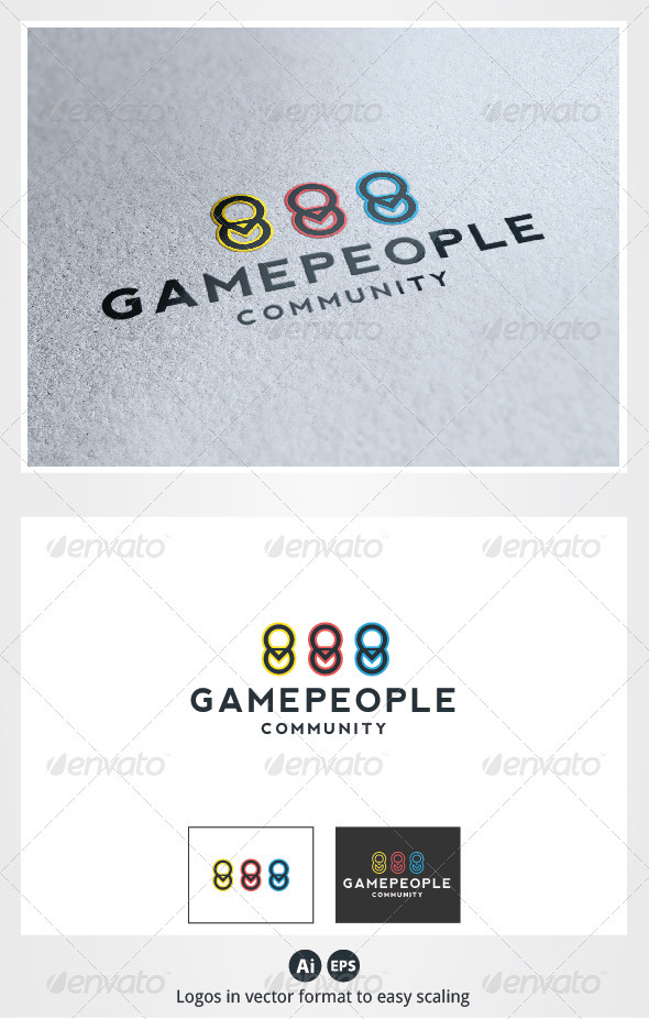 Game People Logo - Symbols Logo Templates