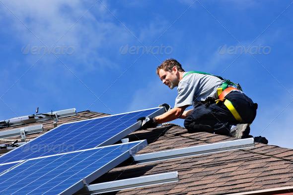 PhotoDune Solar Panel Installation 207629