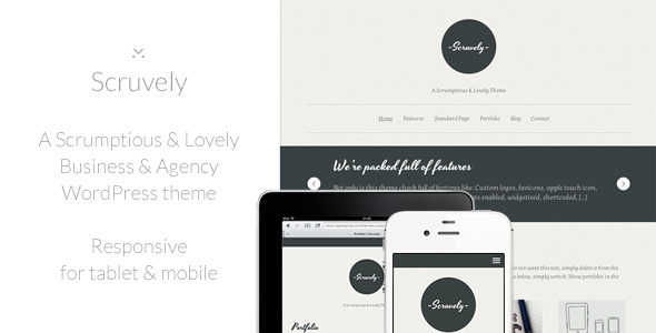 ThemeForest Scruvely A Typographic Business & Creative Theme 2748360
