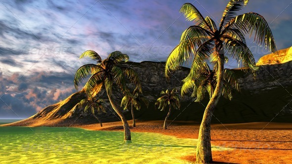 Tropical beach paradise - Stock Photo - Images