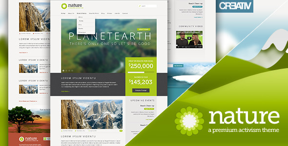 Nature Premium Responsive WordPress Theme - Activism Nonprofit