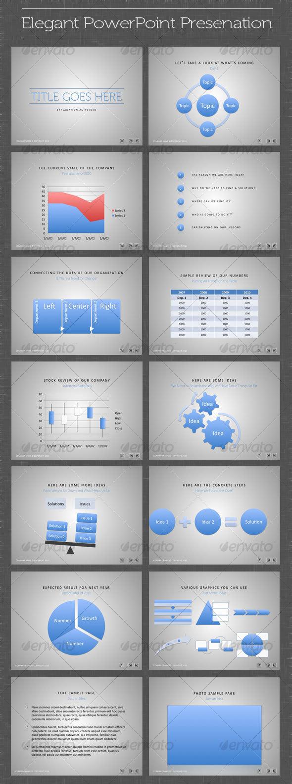 GraphicRiver Elegant PowerPoint Presentation 101164