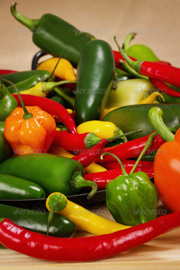 Chilli pepper still life - Stock Photo - Images