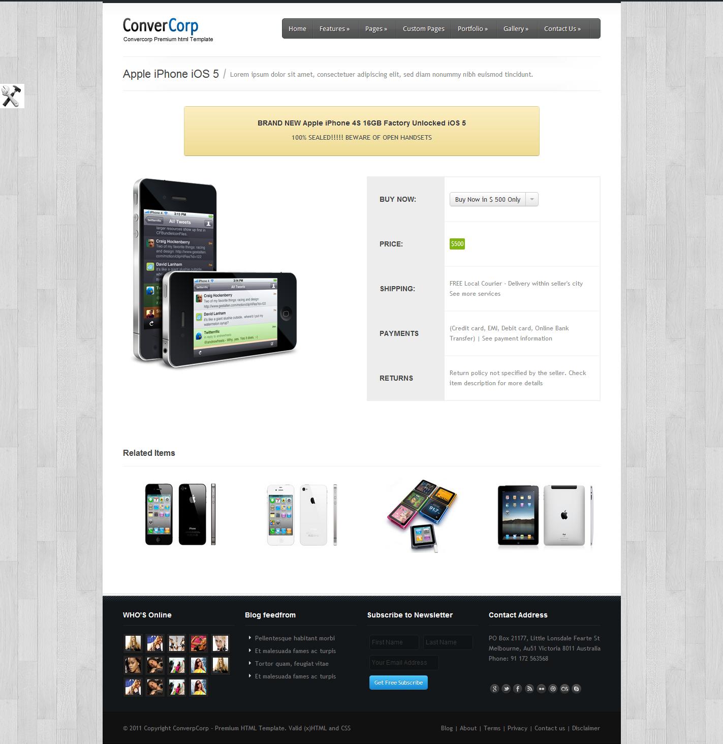 Convercorp - Multipurpose Premium HTML Theme