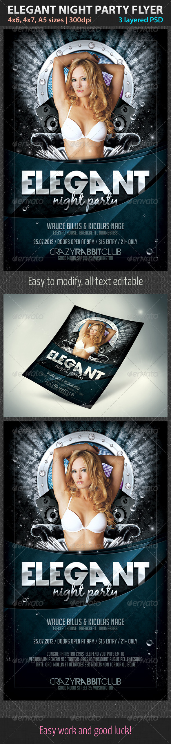 Elegant Night Party Flyer - Clubs & Parties Events
