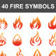 40 Fire Symbols - GraphicRiver Item for Sale