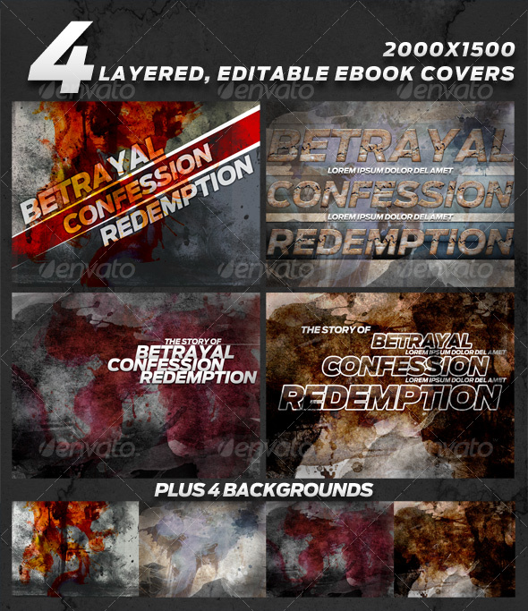 GraphicRiver 4 layered eBook Covers 101216