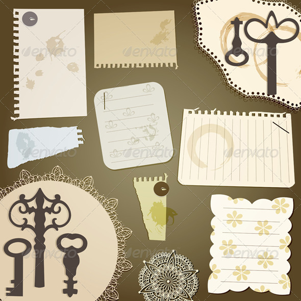 Vecto Scrapbook Design Elements - Decorative Symbols Decorative