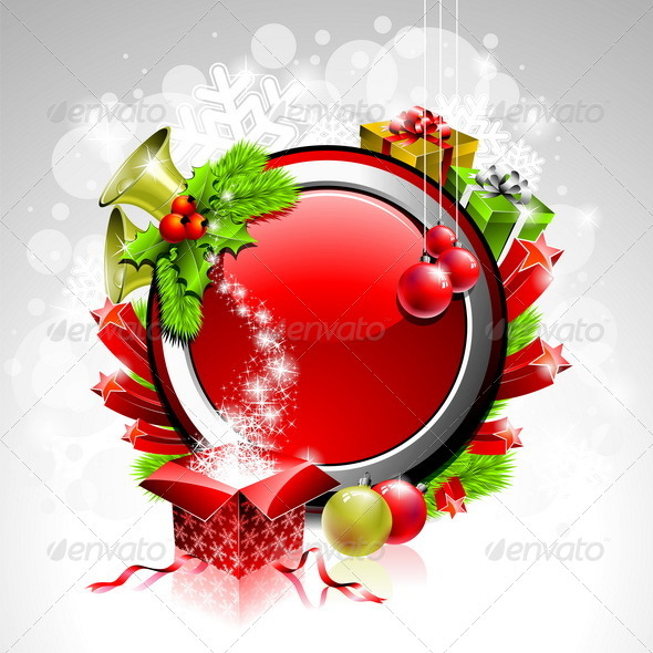 Vector Illustration on a Christmas Theme - Christmas Seasons/Holidays