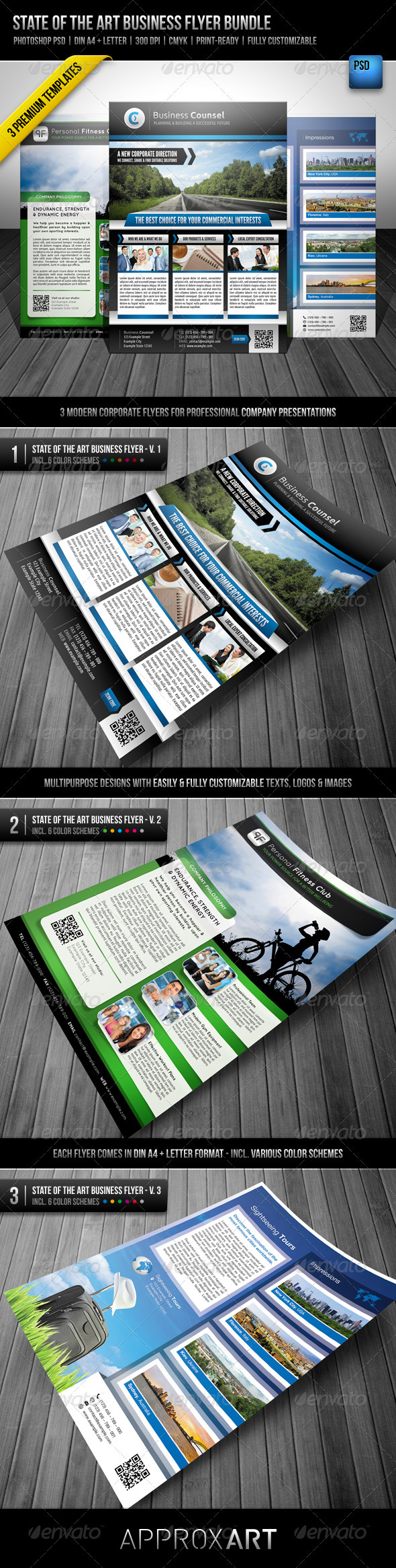 State of the Art Business Flyer Bundle - Corporate Flyers