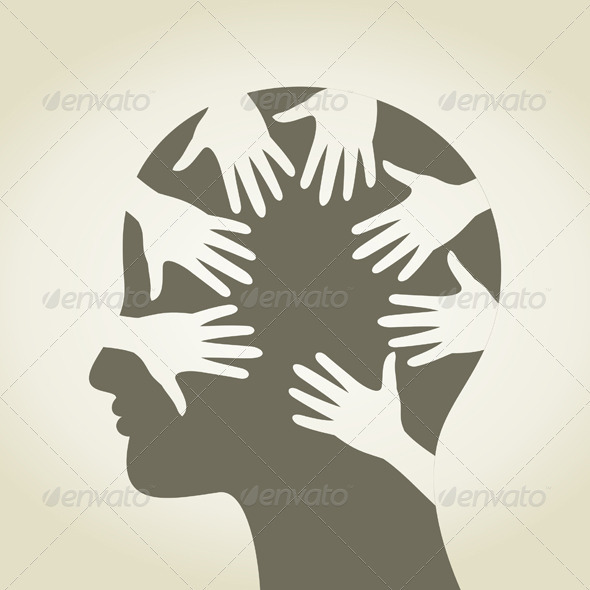 Head of hands - People Characters
