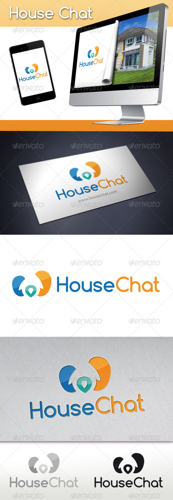 House Chat Logo - Buildings Logo Templates