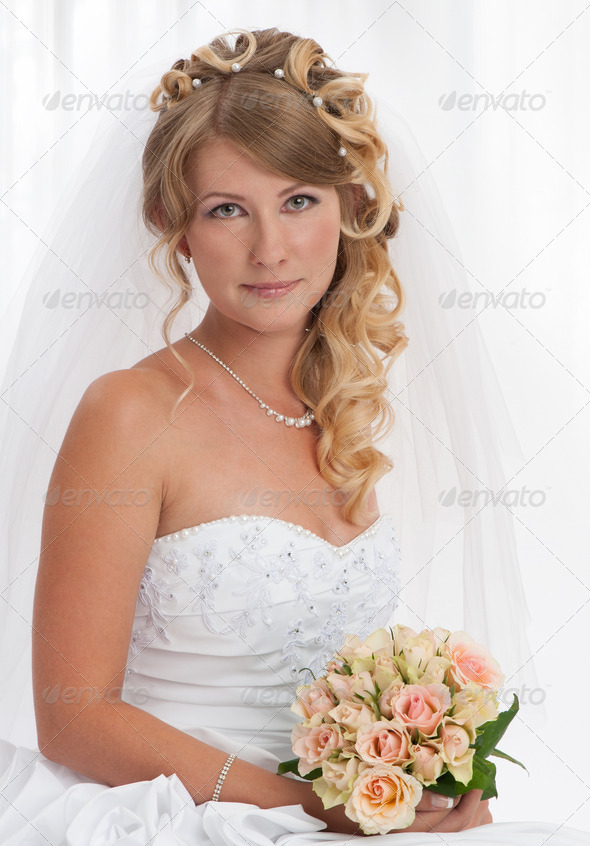 Bride portrait. Wedding dress - Stock Photo - Images