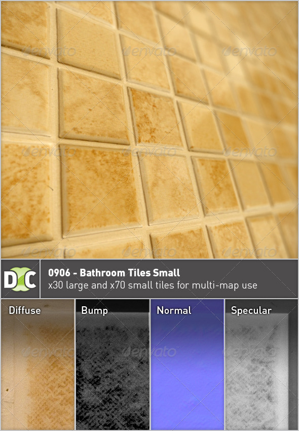 0906 - Bathroom Tiles Small - 3DOcean Item for Sale